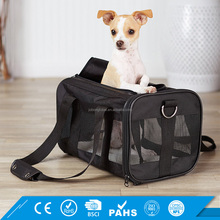 Black For Small Cat Dogs Wholesale Soft Sided Travel Tote Bag Airline Approved Pet Carrier