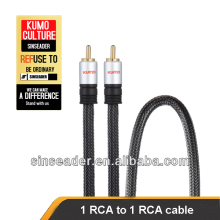 RCA Audio Video cable Gold Plated connector, rca to rca cable