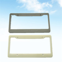 Cheapest customzied logo plastic License plate frame, plastic parts