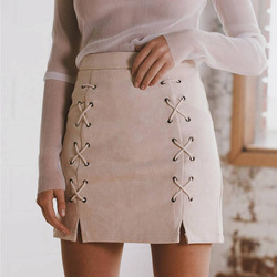 2017 New fashion women suede nap pencil skirt winter office lady mini skirts