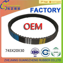 factory direct mitsuboshi / three v-belt743-20-30/669/18/743/20/835*20/842*20 scooter dongil/bando/mitsuboshi v-belts f