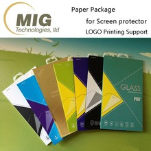 Phone Glass Film Box Packaging Accept Custom Design Tempered Glass Screen Protector Paper Packaging