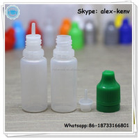 10ml LDPE e juice plastic empty bottle with tamper evident seal and child proof lid