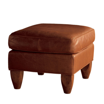 O111 small modern design wooden leather sitting sofa stool for Sofa stool design