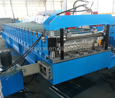 galvanized metal glazing machine for wall panel/colored steel step roof sheet roll forming machine