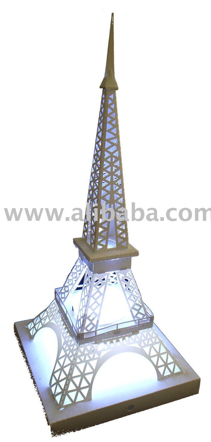 Bricolage lampe de papier tour eiffel artisanat en - Lampe tour eiffel ...