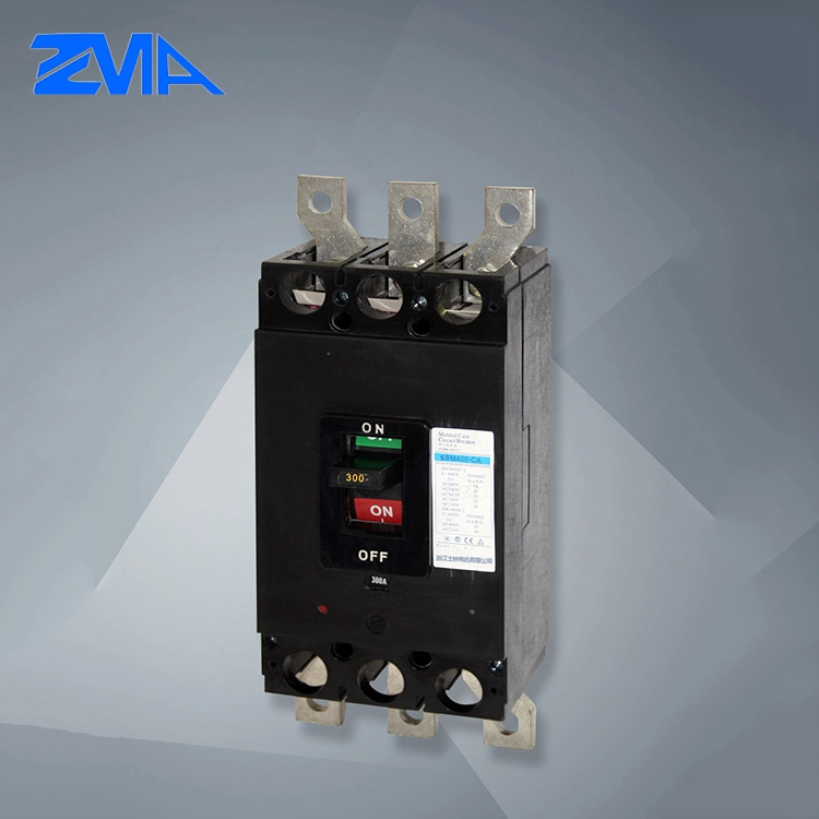 Cost price 55KA 3 pole MCCB moulded case circuit breaker