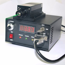 GL532T3-200FC, Adjustable Power Supply ADR-700A, 200mW 532nm Green DPSS Laser, with Fiber Coupler, CW