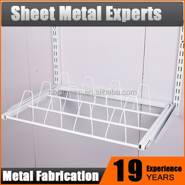 China supplier modern closet soft close pull out shoe stoage rack