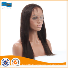 Great quality straight natural lace full wig brazilian human hair sew in weave