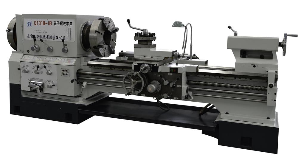 Q1319 máquina de torno de torneado manual para tubería