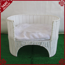 Newest custom made rattan colorful oval cat cage dog pet sofa sleeping bed