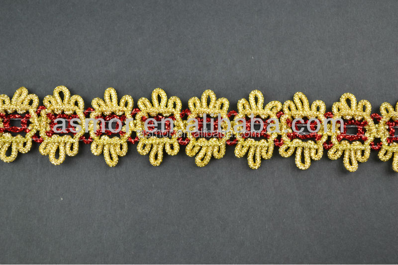 Braid Gold and Silver Lace Trim