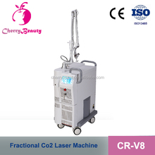new blue and white porcelain handle skin rejuvenation co2 fractional laser vaginal tightening laser resurfacing machine