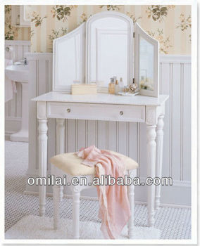2103 latest white vanity antique classic wooden dressing table