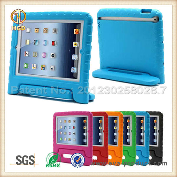 Kids Safe Handle Stand Shockproof Hard Back Shell Case for iPad3