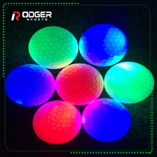multi colors led lighted gift golf ball for night two-piece golf driving range balls