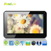 "Top Sell 7"" AllWinner13 Tooth Usb Flash Drive Capacity Touch Screen Dual Core Bluetooth 3000A Calling Mobile S4 MID"