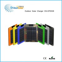 how sale 5W Folding Solar Panel Power bank with seven colors mobile solar charger
