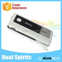 promotional gift mirror black power bank 5200mah with 4 four light to show power