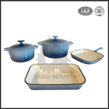 China factory cast iron enamel non-stick healthy cookware set