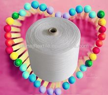 32s/1 no-dyed 100 polyester spun yarn for weaving in shijiazhuang