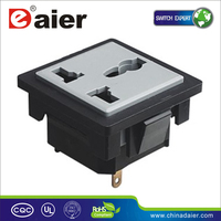 220V AC socket three plug with white base