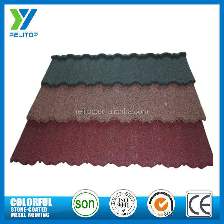 Good building material roof price/ stone coated metal roof tile