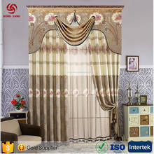 European high-Grade Embroidered Luxurious Chenille Home Hotel Curtain For 5 Star Hotel And Home