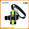 Promotional colored elastic mens sports arm band mobile phone bag