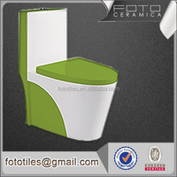 Modern types sanitary wares green ceramic one piece toilet wc with modern types