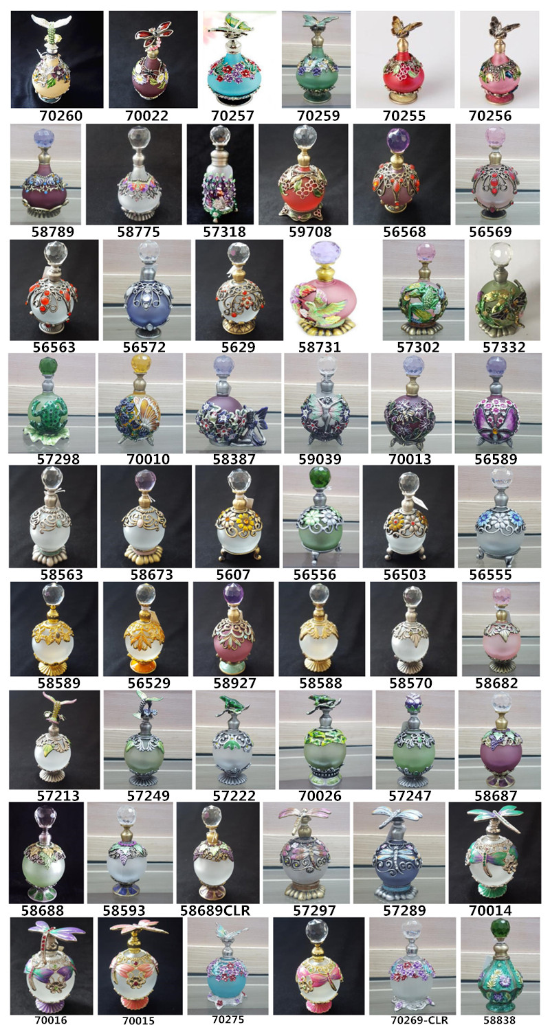 Wholesale 40ml Frosted Perfume Bottles with Coffee House Decorated Cap Metal Stick for Sale