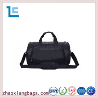 Zhaoxiang fashion black custom nylon round tote traveling bag