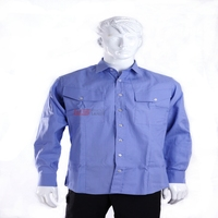 High performance flame resistant and antistatic man work wear with EN ISO 11612
