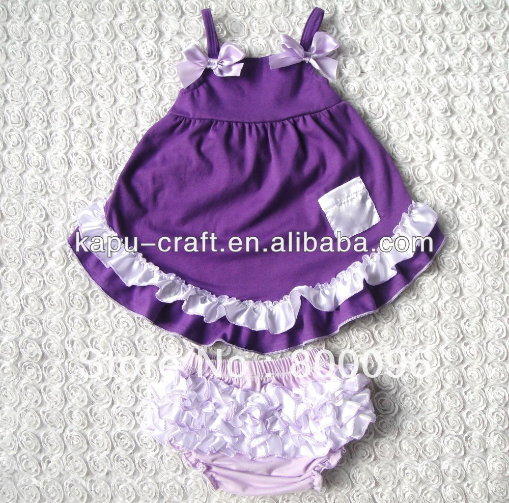 New Item for baby boutique 100% cotton swing top set,bloomer set