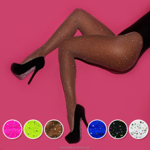 Fashion Women's Sexy High Waist Sparkle Rhinestone Stockings Pantyhose glitter Fishnet tights