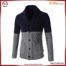 High quality OEM custom 100% cashmere Roll neck Men fashion sweater
