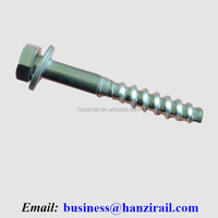 Timber Sleeper Screw Spike For Railroad Steel Rail