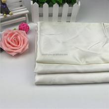 Factory price high quality cheap shiny white satin fabric wholesale