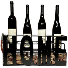 Metal Wall Mounted Wine Rack Cork Holder