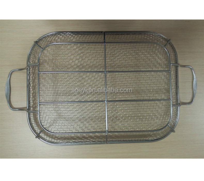 Oven BBQ grill stainless steel welded wire mesh basket for house cooking,kitchen stainless steel grill basket for outdoor BBQ
