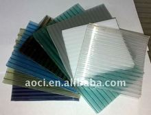 Aoci Opal Twin Wall PC Hollow Sheet Milk White Polycarbonate Hollow Board/Panel/Sheet