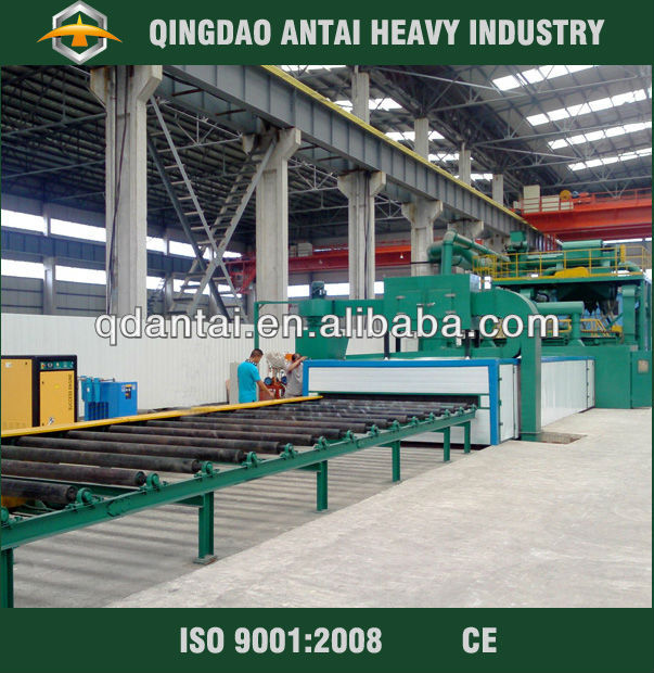 used steel h beam blasting equipment/steel plate handling equipment