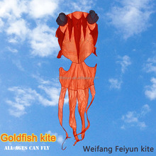 Weifang Hot sale different colors soft inflatable Goldfish kites