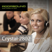 Crystal 2802 Noise-cancelling binaural headsets for call centers and offices