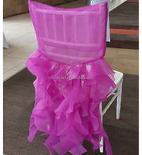 Wholesale Cheap Wedding Organza Ruched Sashes Chair Cover