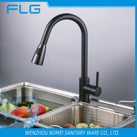 pull down ORB kitchen sink tap long neck kitchen faucet brass stopcock magic tap bib cock