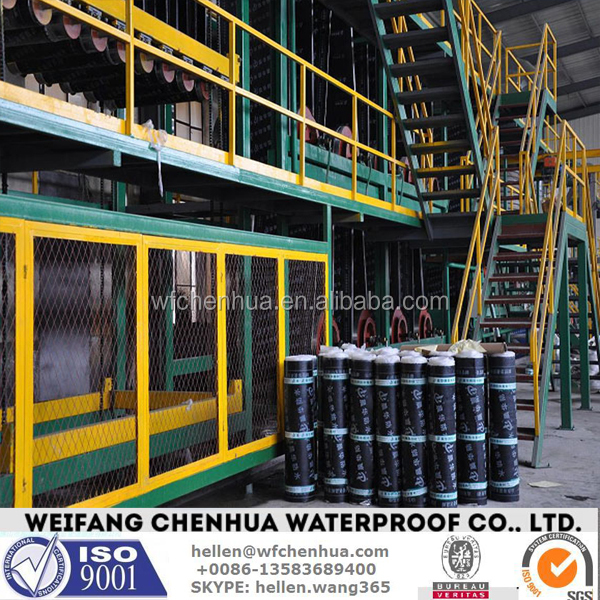 Polymer Bitumen Based Waterproofing Membranes Production Line --- Automatic & Installation overseas