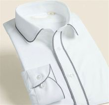 Top fashion excellent quality men's formal white party dress shirts manufacturer sale