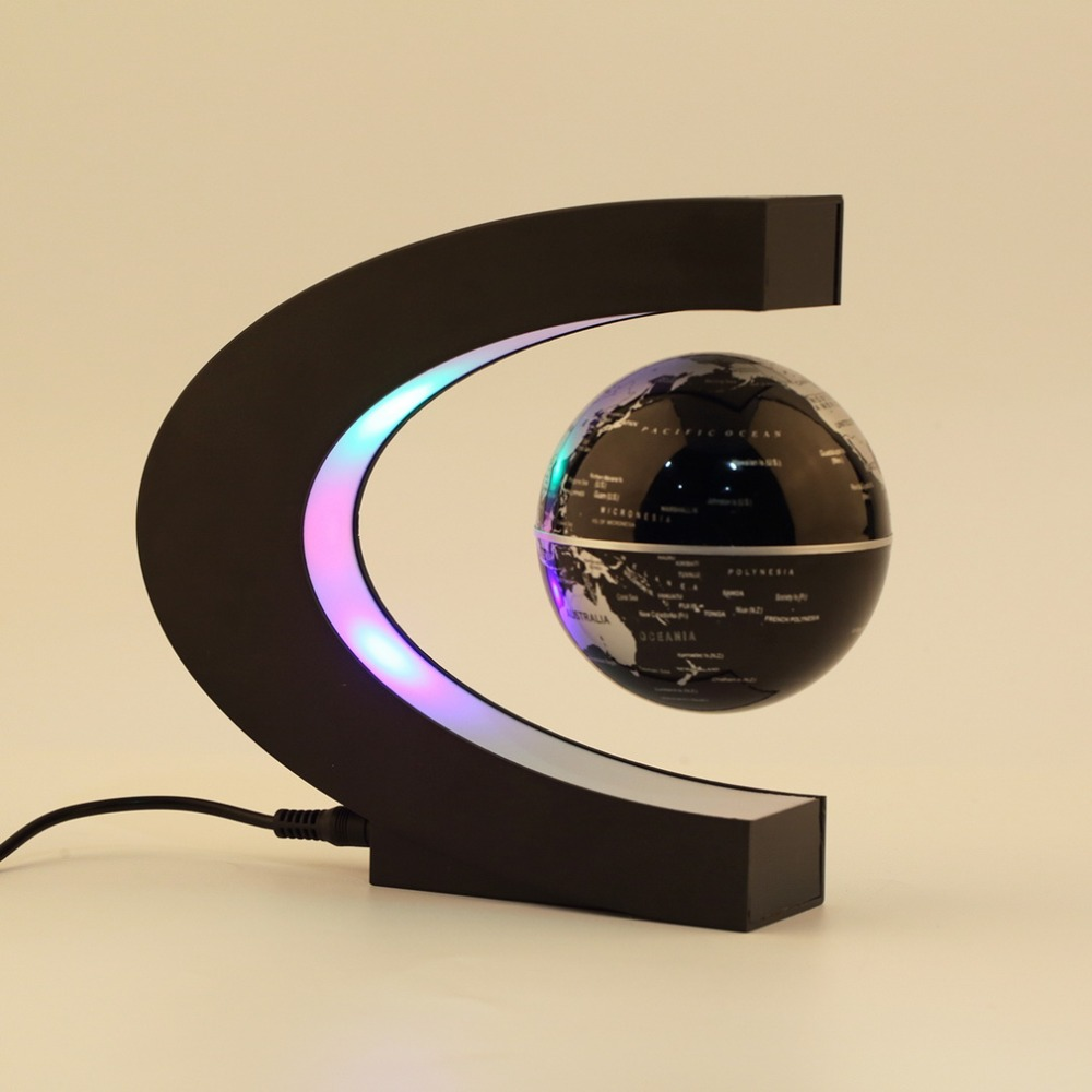 In stock! Electronic Magnetic Levitation Floating Globe Antigravity magic/novel light Birthday Gift US plug
